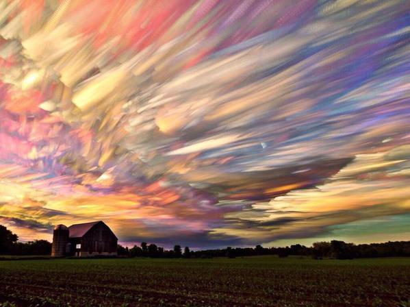 A time lapse of 1000 sunsets. Somewhere in the vastness, this is what the sky looks like, where Van Gogh paints the night, Monet authors the day.